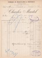 Facture Charles Martel Fabrique De Broderies Tarare 1905 - France