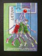 Lithuanian Basketball Team, Bronze Medallist # Lietuva Litauen Lituanie Litouwen Lithuania 1996 MNH # Mi. 624 Block 8 - Lithuania