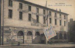 CARTE POSTALE ORIGINALE ANCIENNE : DIEPPE ECOLE COMMUNALE DE GARCONS SEINE MARITIME (76) - Dieppe