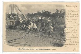 COTE D'IVOIRE - N° 10 - Mise à Terre D'une Bille D'acajou - Côte-d'Ivoire