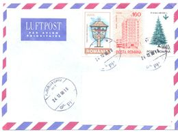 1998. Romania, The Letter Sent  By Air-mail Post To Moldova - 1948-.... Républiques