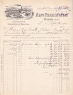 Facture Alphonse Perrin Manufacture De Couvertures Cours Rhône 1900 - France