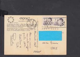 CANADA  1967 - Annullo Meccanico Su Cartolina Per L'Italia - 1967 – Montreal (Canada)