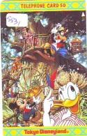 Télécarte Japon * 110-148765 * DISNEY Disneyland (5531) Donald Mickey Minnie * Japan Phonecard Telefonkarte - Disney