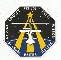 Autocollant , AVIATION & ESPACE , STS - 121 ,Kelly ,Wilson ,Sellers ,Reiter ,Fossum ,Nowak ,Lindsey , NASA - Stickers