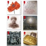2014 UK / Great Britan - World War I - Set Of 6 V - Paper - MNH**  MI 3628 -3633 - Unused Stamps