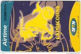 Cameroon, 10 000 Fcfa, MTN, Zodiac, Capricorne, 2 Scans.   Please Read - Cameroon