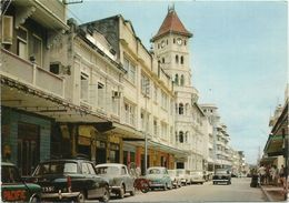 AK / PC Tansania / Tanzania Dar-Es-Salam Mosque Street + Cars Color 1974 #2384 - Tansania