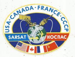 Autocollant , AVIATION & ESPACE , SARSAT , USA.CANADA.FRANCE.CCCP - Aufkleber