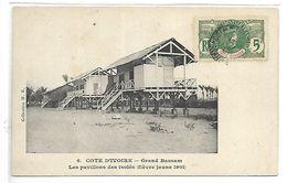 COTE D'IVOIRE - GRAND BASSAM - Les Pavillons Des Isolés (fièvre Jaune 1901) - Côte-d'Ivoire