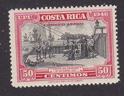 Costa Rica, Scott #C152, Mint Hinged, Columbus In Cariari, Issued 1947 - Costa Rica