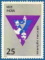INDIA STAMPS, 20 JUN 1975, YWCA, MNH - India