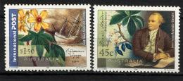 AUSTRALIE AUSTRALIA 2001, BOTANISTE D. SALANDER, Plante Et Fleur, Dessin De Slania, 2 Valeurs, Neufs / Mint. R1369 - Végétaux