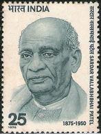 INDIA STAMPS, 31 OCT 1975, SARDAR VALLABHBHAI PATEL, MNH - India