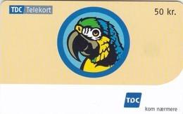 Denmark, D 063, 50 Kr. Parrot, 2 Scans. - Denmark