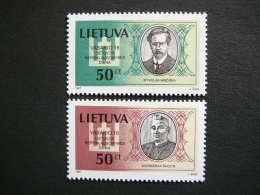 National Day.Persons # Lietuva Litauen Lituanie Litouwen Lithuania 1997 MNH # Mi. 632/3 Famous People - Lithuania