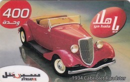 Syria, SYR-P-109B,  400 Units, Classical Cars, 1934 Cabriolet Roadster 02,  2 Scans. - Syria