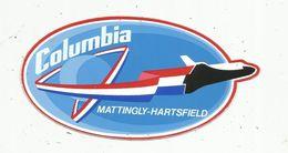 Autocollant , AVIATION & ESPACE , COLOMBIA , Mattingly-Hartsfield - Aufkleber