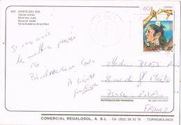 27193. Postal  BENALMADENA (Malaga) 1996. Stamp Lola Flores - 1931-Hoy: 2ª República - ... Juan Carlos I
