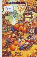 Télécarte Japon * 110-182038 * DISNEY DISNEYLAND (5543) * Japan Phonecard * Chip 'n' Dales - Disney