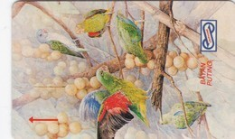 Malaysia, 14MSAF, Lorikeet, Bird, 2 Scans. - Malaysia
