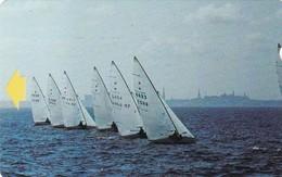 Estonia, ET 012-C, Alcatel 1994 Series Of Views, Sailing Race, C, 2 Scans. - Estonia