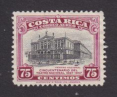 Costa Rica, Scott #C173, Mint No Gum, National Theater, Issued 1948 - Costa Rica