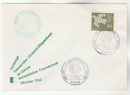 1962 Junkesdorf GERMANY COVER  EUROPA Stamps  EVENT COVER - Europa-CEPT