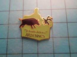 Pin512g2 Pin's Pins : Rare Et Belle Qualité : ARDENNES JE BOUTE DEHORS SANGLIER CONTRE AIGLE TEUTON  , Marquage Au Dos : - Animals