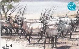 Qatar, QTR-79, Arabian Oryx, 2 Scans. - Qatar