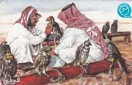 Qatar, QTR-78, Arabs With Falcons, 2 Scans. - Qatar