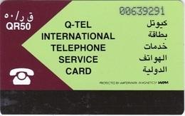 Qatar, QTR-02, Maroon & Pale Green, 2 Scans. - Qatar