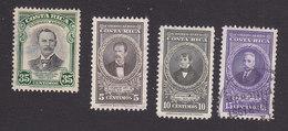 Costa Rica, Scott #C170, C179-C181, Used, Rafael Iglesias, Lara, Duran, Issued 1948 - Costa Rica