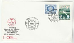 1985 SAN MARINO COVER SPORTPHILEX  EVENT Olympic Rings Olympis Games Sport Stamps Philatelic Exhibition - Summer 1988: Seoul