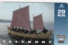 """Faroe Islands, OD-011,  20 Kr , Shiptype """"seksæringur"""", 2 Scans.   Please Read - Faroe Islands"""