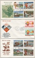 Pilipinas / Phillipines - 1971 - 3 FDC's - No Address - Tourism, Fishing - Filippijnen