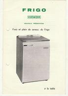 Cuisine FRIGO Vorwerk Fabrique Latinus Bruxelles - Électricité & Gaz