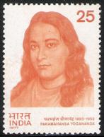 INDIA STAMPS, 07 MAR 1977, PARAMHAMSA YOGANANDA, MNH - Inde