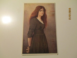 IMP. RUSSIA ST. PETERSBURG RICHARD , BEAUTIFUL WOMAN , LINGNER ,  OLD POSTCARD , 0 - Künstlerkarten