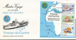 "Tristan Da Cunha  - Mi.Nr. 499  BLOCK  22   FDC  Indienststellung Der Neuen RMS ""St. Helena""  1990 - Tristan Da Cunha"