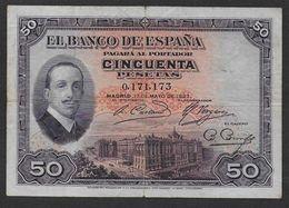 ESPAGNE - Billet De 50 Pesetas De 1927 - 50 Pesetas
