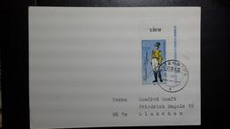 DDR Drucksache  Mit Mi.Nr.2997 I (Postuniform)Ortsstempel Altenberg ( 25.3.86) Nach   Glauchau - DDR