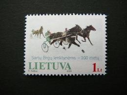 Centenary Of The Sartai Horses Race # Lietuva Litauen Lituanie Litouwen Lithuania 2005 MNH # Mi. 868 - Lithuania