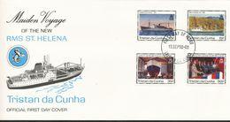 "Tristan Da Cunha  - Mi.Nr. 495 - 498   FDC     Indienststellung Der Neuen RMS ""St. Helena  1990 - Tristan Da Cunha"