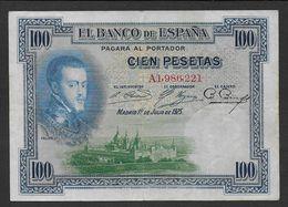 ESPAGNE - Billet De 100 Pesetas De 1925 - Série A - [ 1] …-1931 : First Banknotes (Banco De España)
