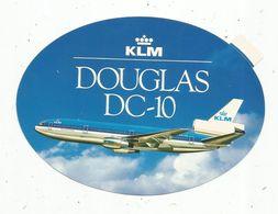 Autocollant , AVIATION & ESPACE , KLM , Douglas DC-10 - Aufkleber