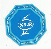 Autocollant , AVIATION & ESPACE , NATIONAL AEROSPACE LABORATORY , National Lucht - En Ruimtevaartlaboratorium - Aufkleber