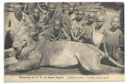 AFRIQUE - Missions Des P.P. Du Saint-Esprit - Chasse Au Lion - Un Beau Coup De Fusil - Cartes Postales
