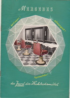 Catalogue Mobilier Design Coiffeur Bureau Chaise Table Fauteuil ... MERCEDES Grunberg Hessen Allemagne Année 50/60 - Allemagne