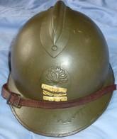 Casque Adrian 26 De Capitaine D'Infanterie  (Envoi Mondial Relay France Inclus) - Copricapi